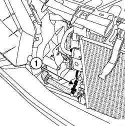 Отсоединение колодки проводов от датчика давления топлива