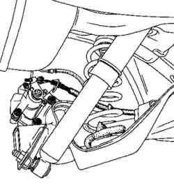 Установка троса привода стояночного тормоза
