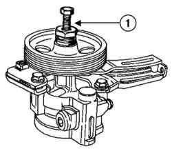 Напрессовка шкива насоса гидроусилителя