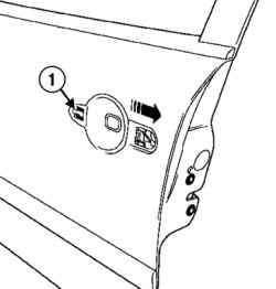 Снятие модуля из панели двери