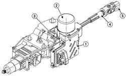 Механизм гидроусилителя рулевого управления автомобиля Megane II