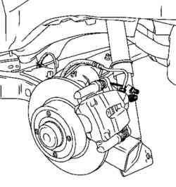 Установка стопора троса привода стояночного тормоза