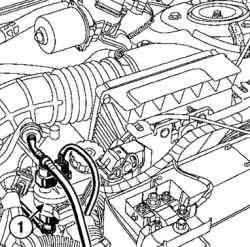 Снятие электромагнитного клапана продувки адсорбера