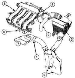Схема впускного тракта (двигатель К4М)