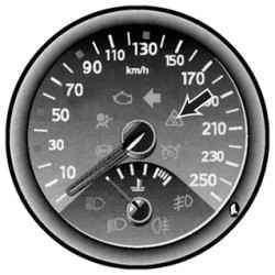 Контрольная лампа системы курсовой устойчивости