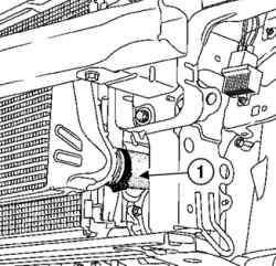Отсоединение подводящего трубопровода воздуховоздушного охладителя