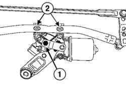 Снятие электродвигателя стеклоочистителя