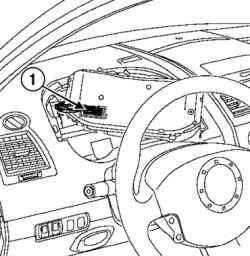Разъем электропитания щитка приборов