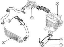 Схема впускного тракта (двигатель F4R)