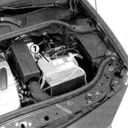 Местоположение аккумуляторной батареи