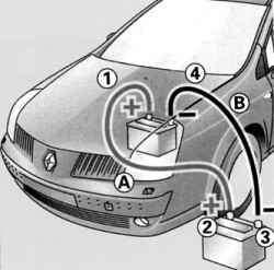 Схема подсоединения дополнительной батареи