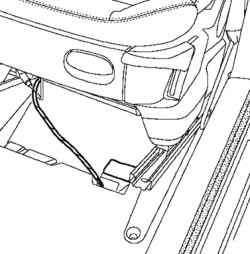 Разъединение разъема электропитания сиденья