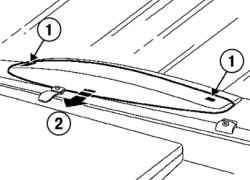 Снятие крышки верхнего стоп-сигнала