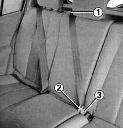 Центральный ремень безопасности заднего сиденья
