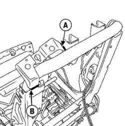 Метки резки кронштейна механизма блокировки спинки