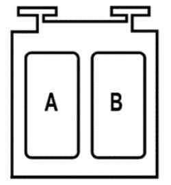 Блок, закрепленный на указанном выше блоке