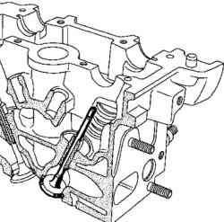 Установка клапана в головку блока цилиндров