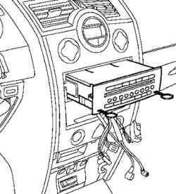 Снятие блока навигации с аудиосистемой с помощью специального приспособления