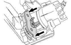 Снятие внешней тормозной колодки
