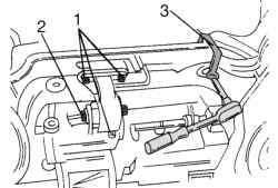 Крепление заднего упора против проворачивания и рулевого управления (моменты затяжки