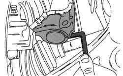 Разжатие зажимного шлица поворотного кулака