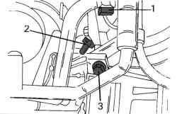Положение некоторых многоконтактных штекерных колодок и фильтра системы Pulse-Air