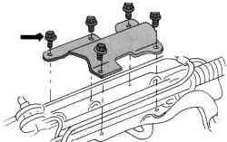 Защитный кожух рулевого управления (только на автомобилях с 2,5-литровым двигателем)