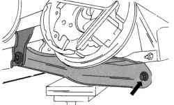 Крепление заднего нижнего поперечного рычага