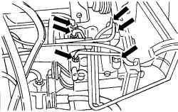 Отсоединение тормозных трубок на гидравлическом блоке Mecatronik III