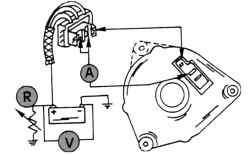 Проверка отдачи тока генератором