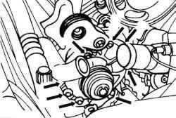 Винты крепления водяного насоса на двигателе V6