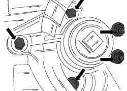 Места крепления передней подвески двигателя