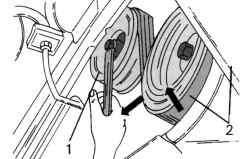 Ослабление устройства натяжения ремня