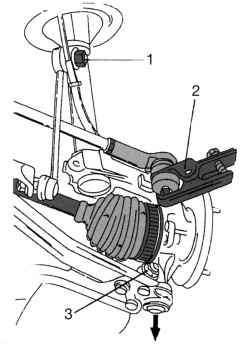 Снятие вала привода правого колеса