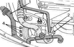 Крепление вспомогательного рулевого насоса
