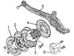 Реактивная тяга (автомобили с кузовом комби выпуска с декабря 1997 г.)