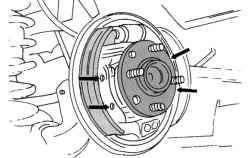 Крепление ступицы колеса