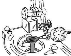 Проверка зазора между стержнем и направляющей втулкой клапана