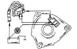 Проверка падения напряжения в «плюсовой» части цепи зарядного тока