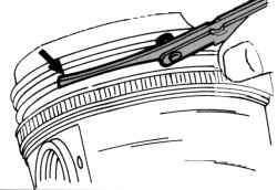 Измерение люфта поршневых колец по высоте в канавке поршня