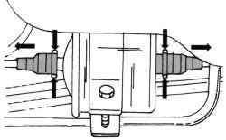Места крепления топливного фильтра