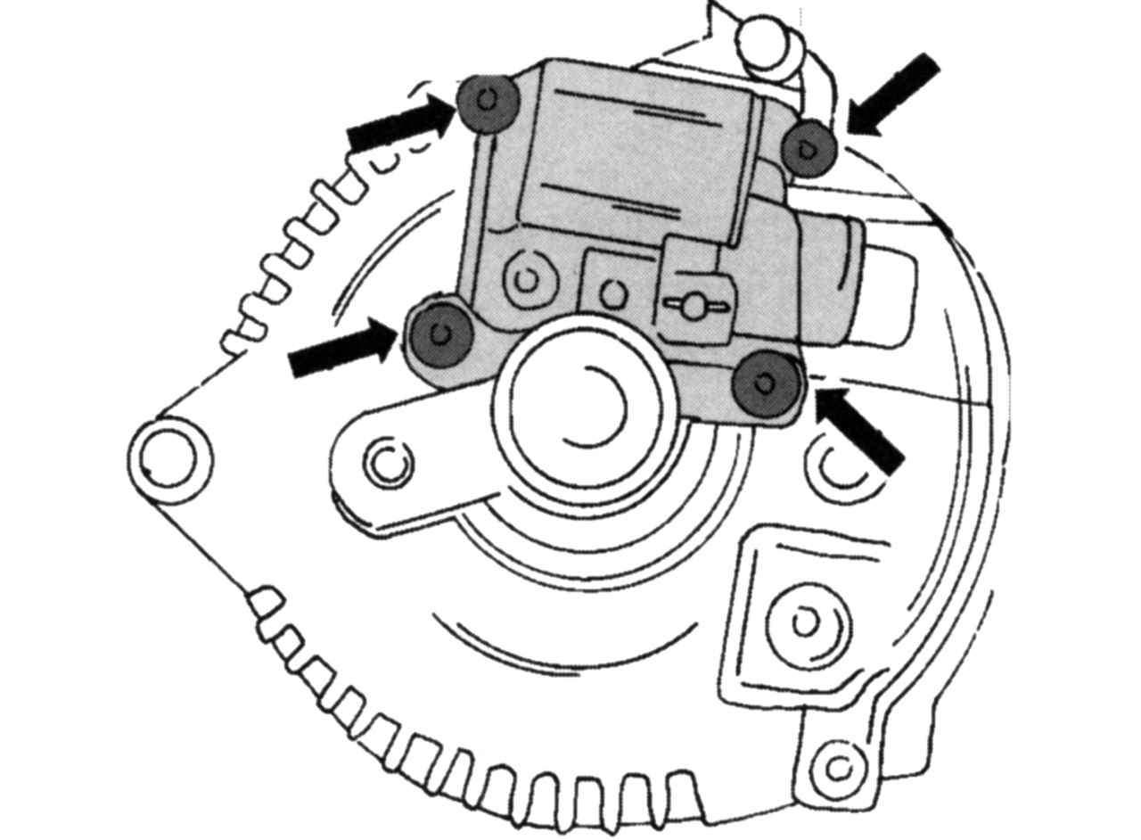 Форд фокус 2 генератор замена щеток 2 фотография