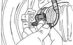 Местонахождение датчика ABS переднего колеса