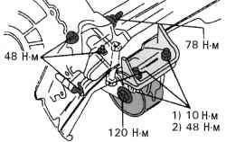 Крепление заднего упора против проворачивания на механической коробке передач