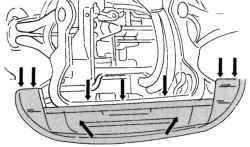 Крепление передней стенки к задней стороне радиатора