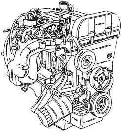 Общий вид двигателя 16V