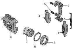 Схема суппорта тормозного механизма