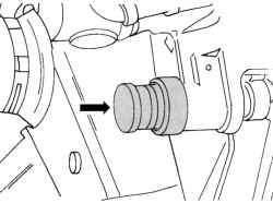 Местонахождение болтов крепления суппорта тормозного механизма