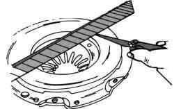 Проверка износа или перекоса нажимного диска сцепления