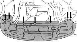Крепление облицовки радиатора